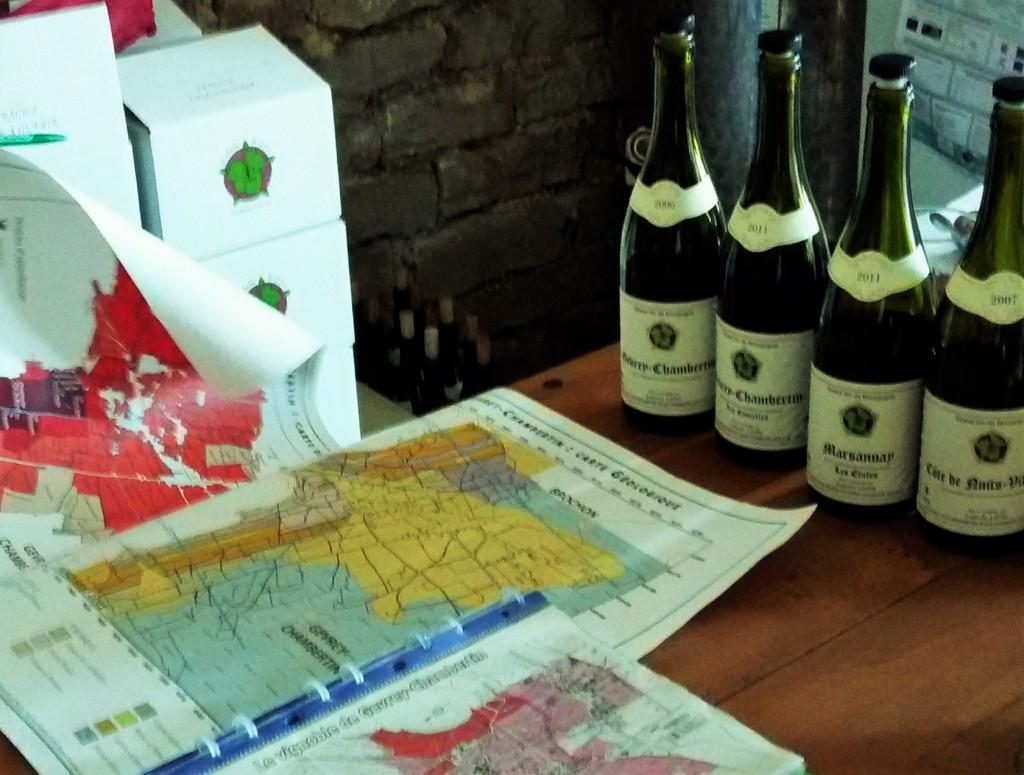 Mapas da região e vinhos para degustar