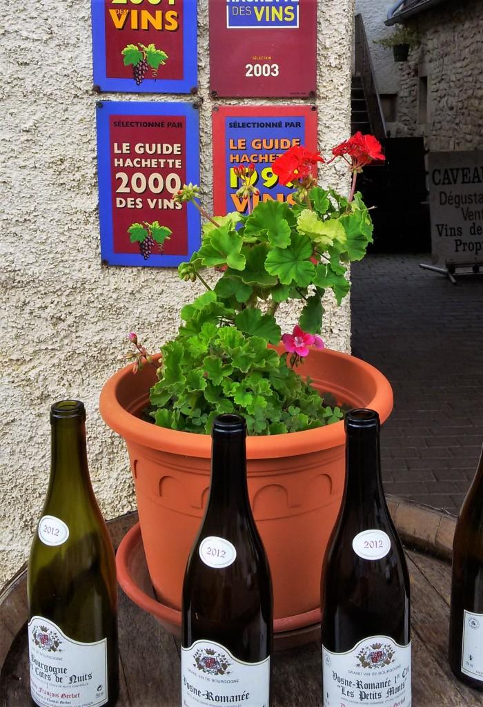 Na entrada da vinícola François Gerbet, garrafas e vários prêmios ganhos pelo 'domaine'