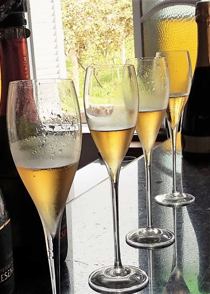 Degustação de champanhe na Peterlongo