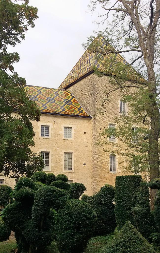 Vista lateral do castelo