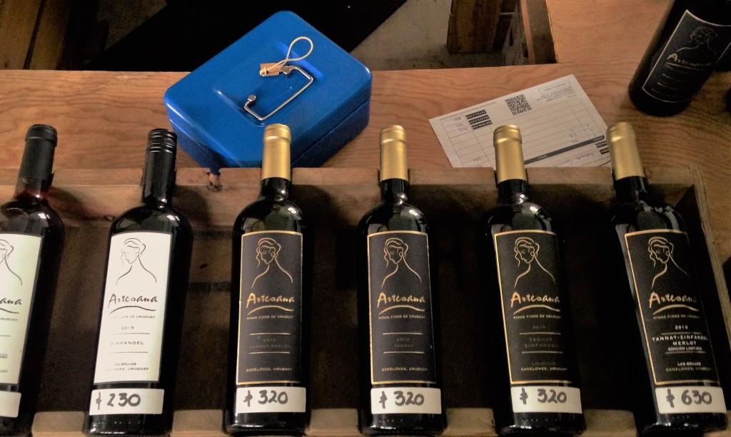 Linha de vinhos da Artesana, que só produz tintos
