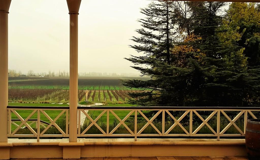 Extensa área de vinhedos vista da varanda da propriedade, em Luján de Cuyo: bodega tem um total de 700 hectares de plantações