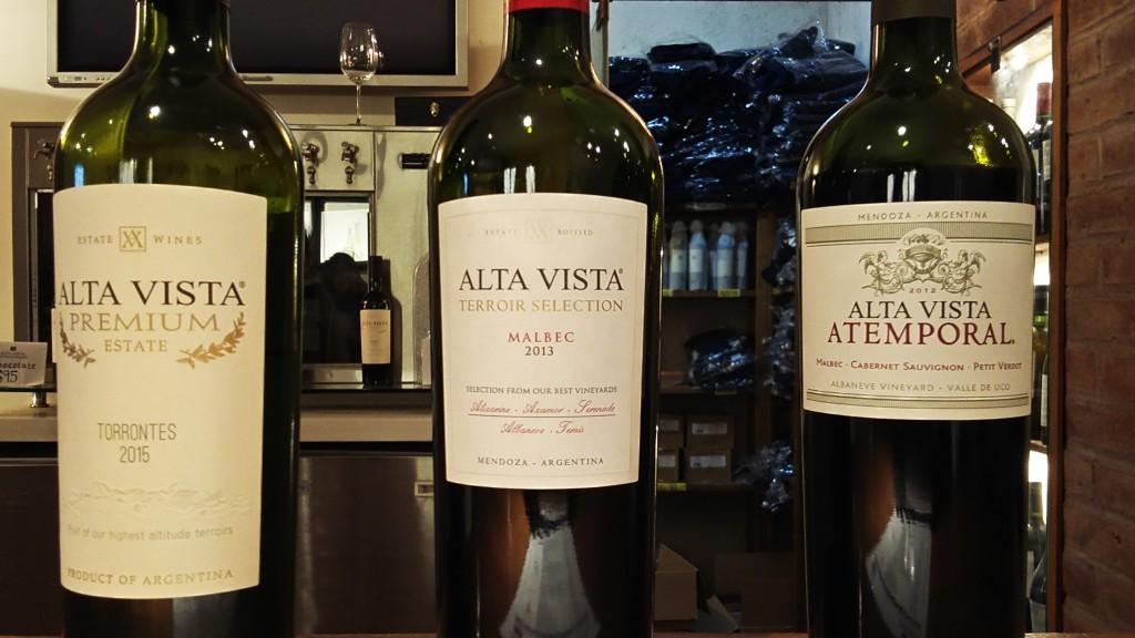 Os vinhos da degustação