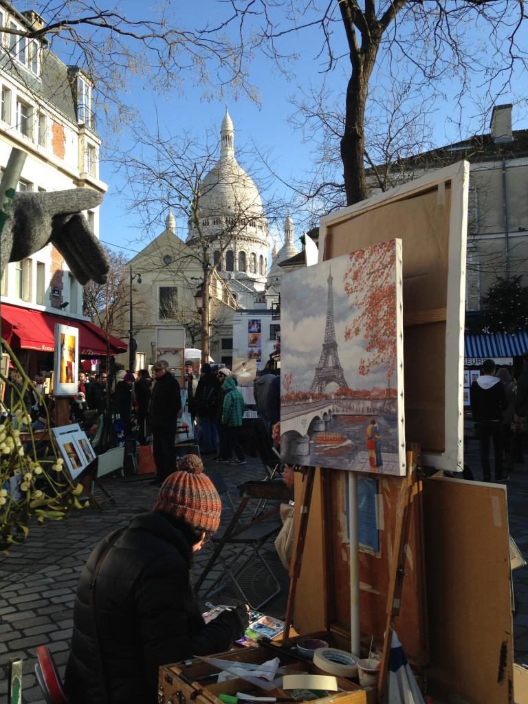 O lindo e artístico bairro de Montmartre