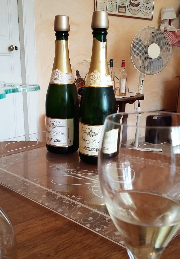 Alguns dos champanhes degustados por nós