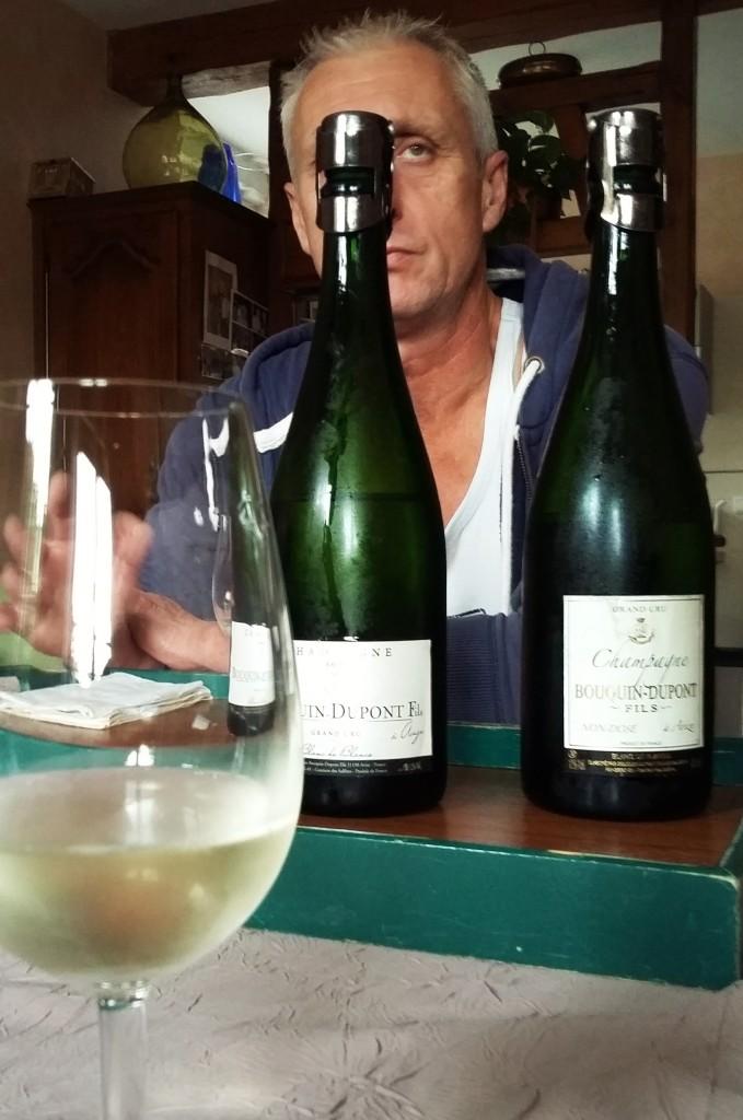Dominique e alguns de seus champanhes 'de autor'