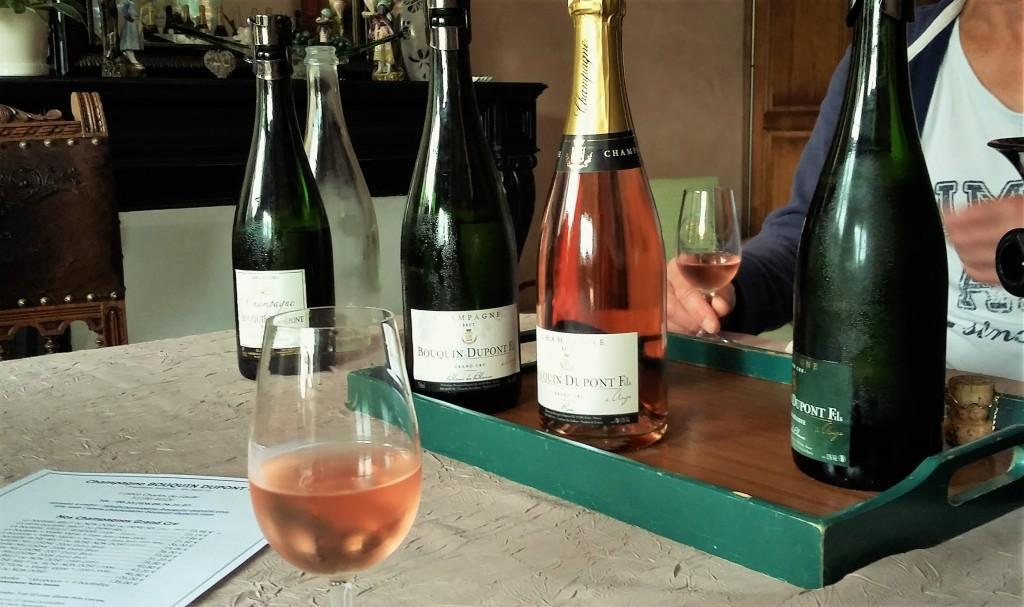 Na sala: durante a degustação, conversas sobre a cultura do champanhe e da região e o trabalho no dia a dia de um pequeno produtor
