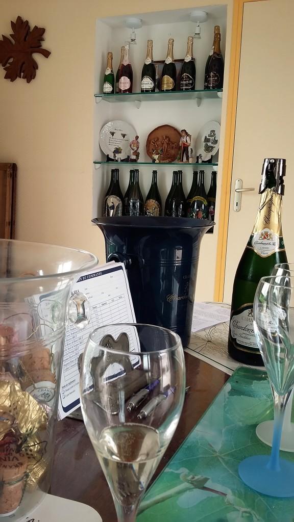 Na sala de um 'vigneron'