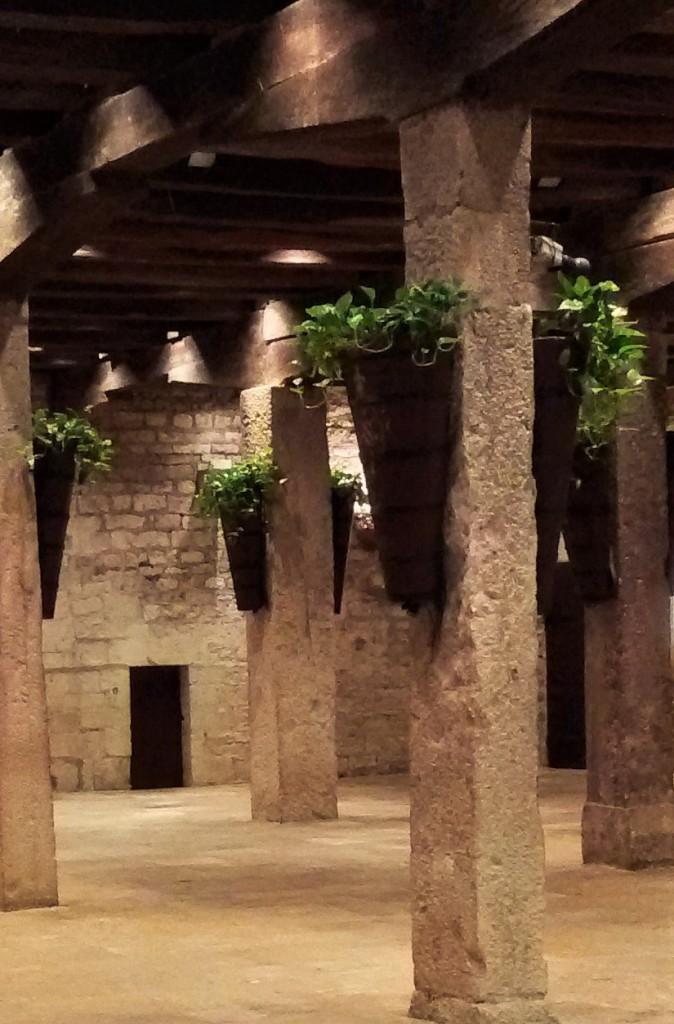 Visão parcial do salão de banquetes utilizado até hoje