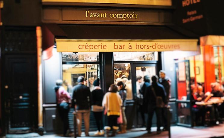 A fachada do bar, que ainda vende crepes, mas apenas para viagem