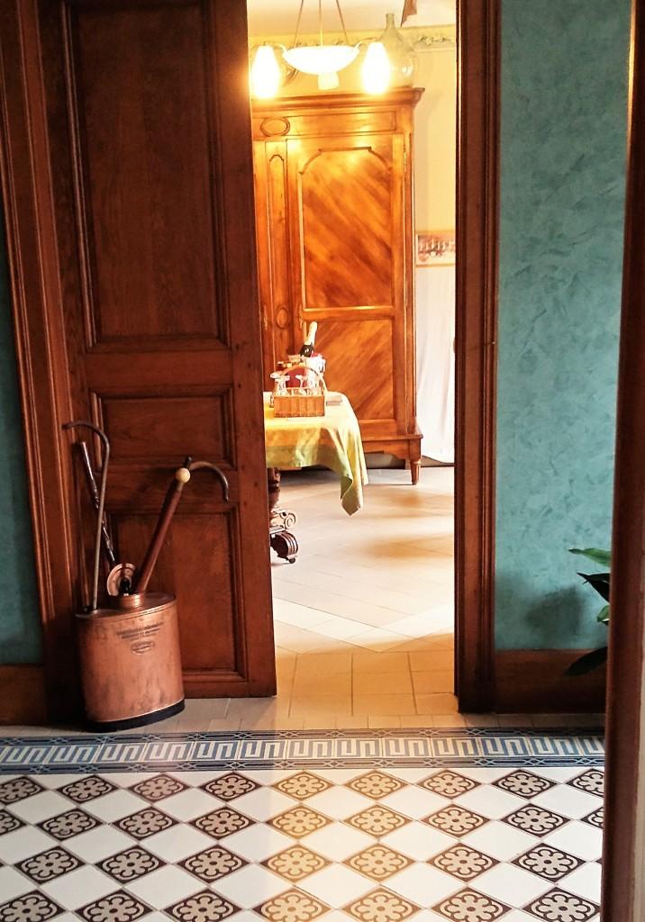 Detalhe do interior da casa de Bouquin