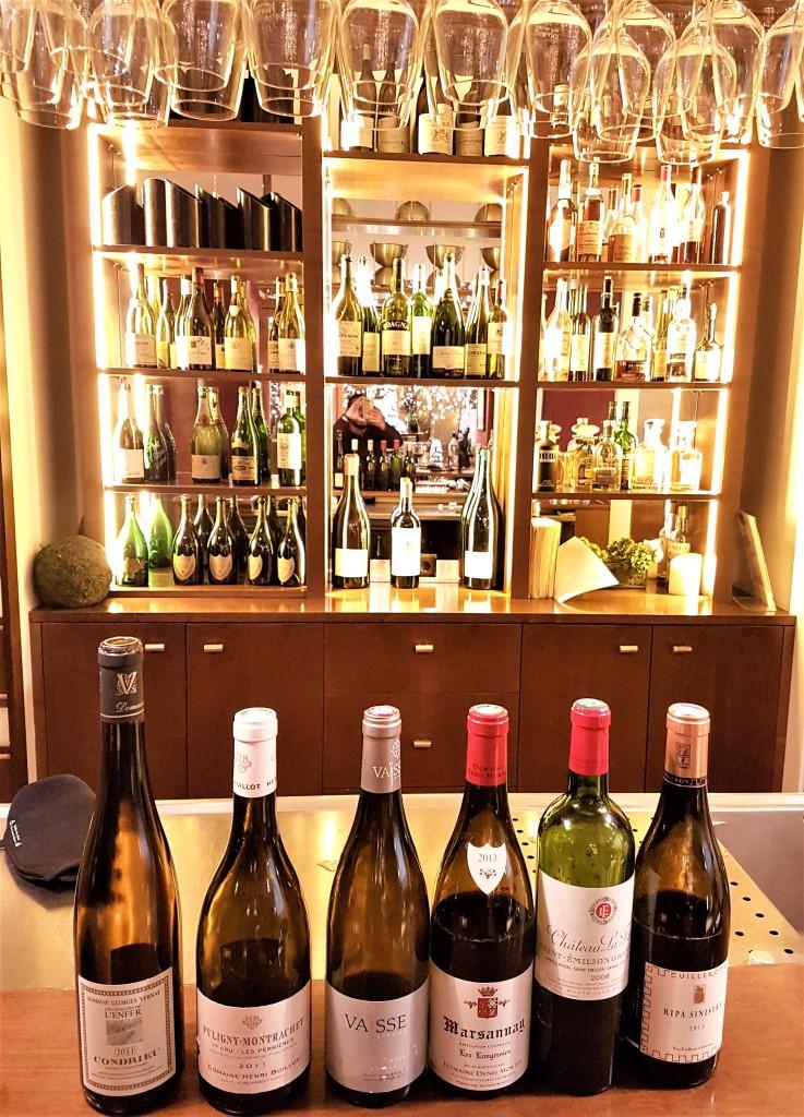 Os 6 vinhos degustados, sobre os quais falamos no post seguinte