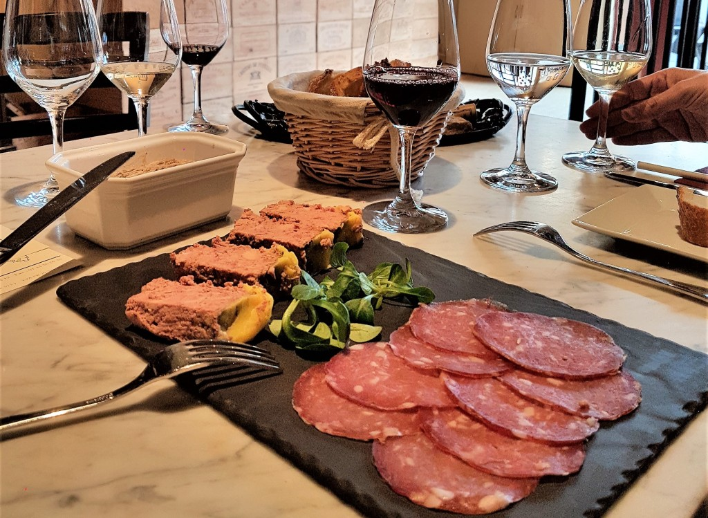 Vinis - degustação - rillettes
